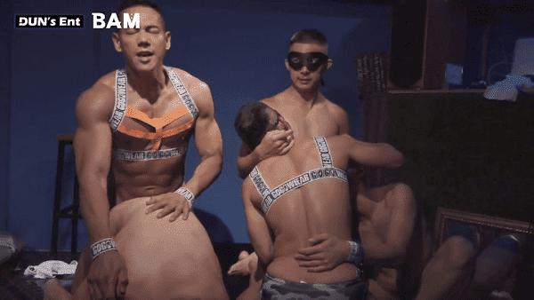 Handsome boy group sex